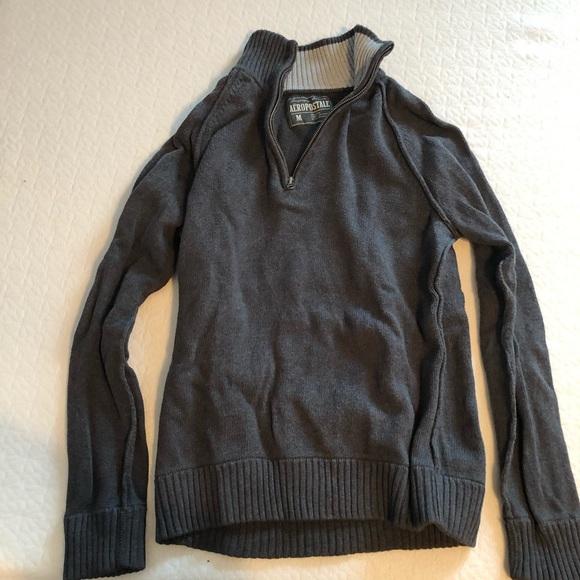 Grey 1/4 zip sweater